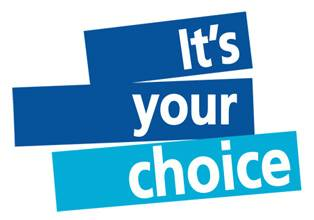 "Graphic rendering of ""It's your choice"""